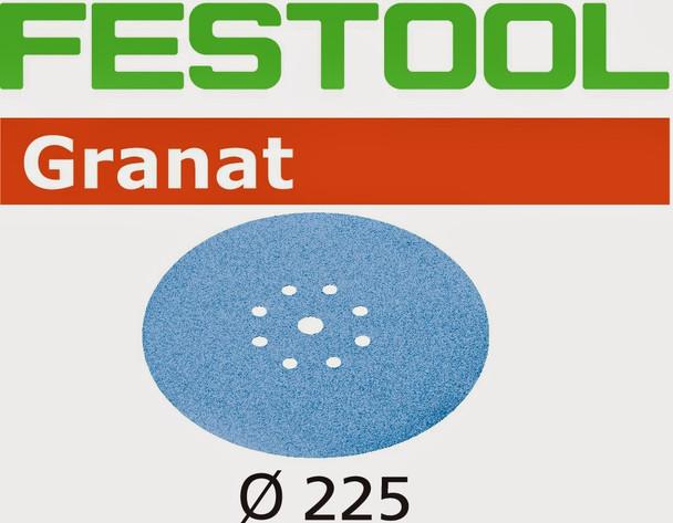 Festool Granat   225 Round Planex   320 Grit   Pack of 25 (499643)