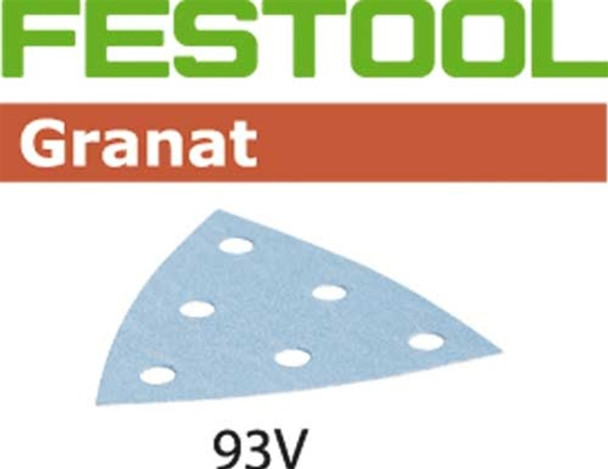 Festool Granat   93mm Delta   150 Grit   Pack of 100 (497395)