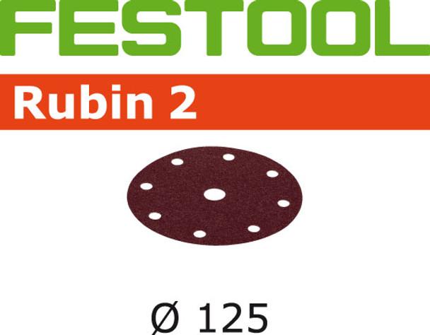 Festool Rubin 2   125 Round   120 Grit   Pack of 50 (499097)