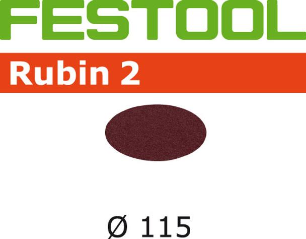 Festool Rubin 2   115 Round   60 Grit   Pack of 50 (499086)