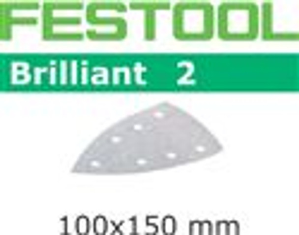 Festool Brilliant 2 | 100 x 150 DTS 400 | 40 Grit | Pack of 10 (492804)