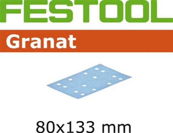 Festool Granat | 80 x 133 | 240 Grit | Pack of 100 (497124)