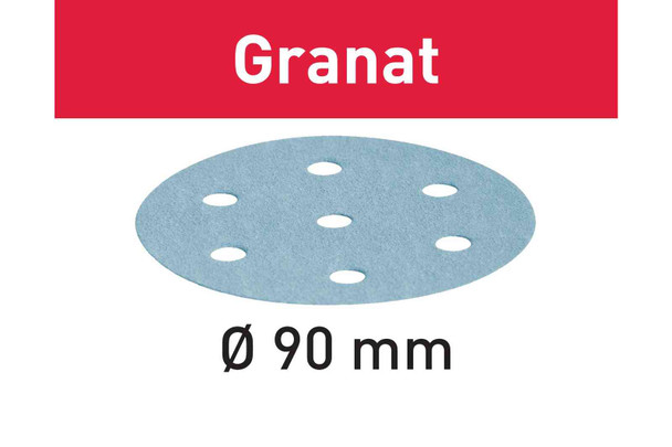 Festool Granat | 90 Round | 400 Grit | Pack of 100 (497373)
