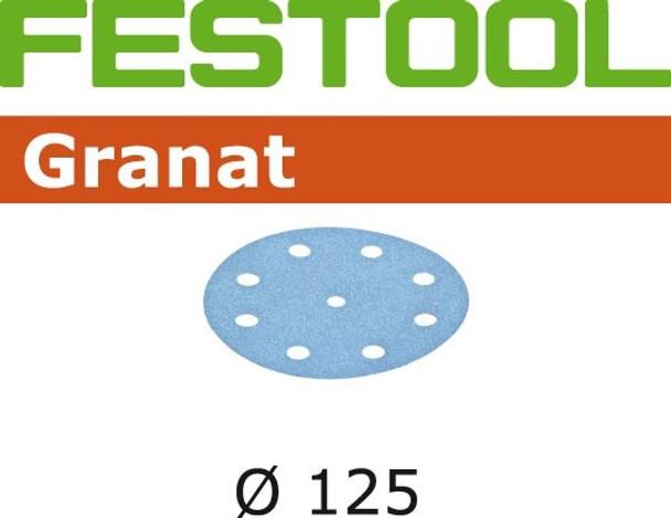 Festool Granat | 125 Round | 220 Grit | Pack of 100 (497172)