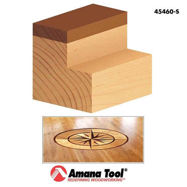 "Amana Dado Clean-out / Flush Trim Plunge Template Bit, 2 Flute, 1/2""Dia, 1/4"" Shank, 1-5/8"" Length (45460S)"