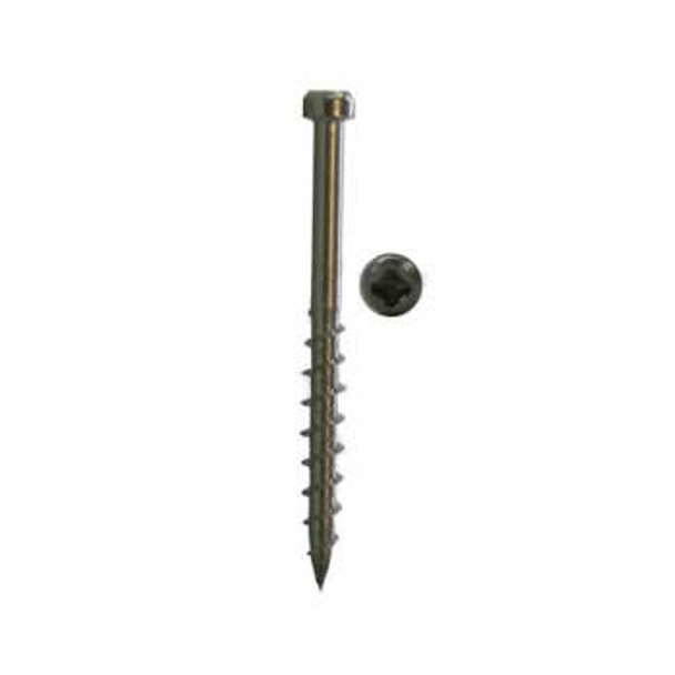 """Kreg Stainless Steel Deck Screws 2"""", #8 Coarse, Pan Head, 100 Count (SDK-C2SS-100)"""