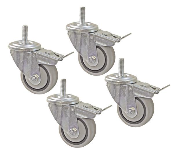 """Kreg 3"""" Dual-Locking Caster Set - Set of 4 (PRS3090)"""
