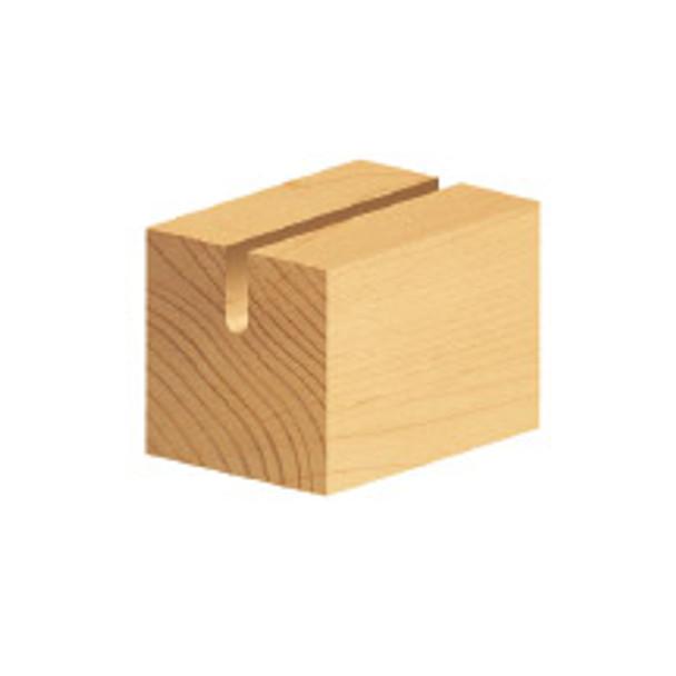 "Amana Core Box Bit, 2 Flute, 3/8"" Rad, 3/4"" Dia, 1/4"" Shank, 1-3/4"" Length (45918)"