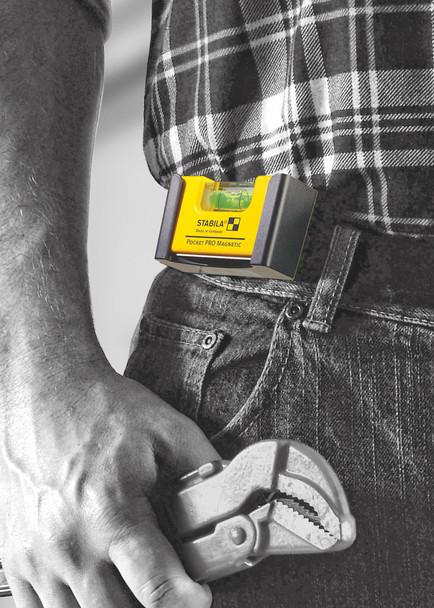 Stabila Magnetic Pocket Level Pro w/ Holster (11901)
