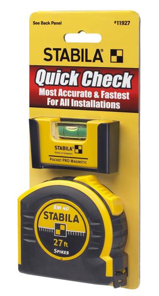 Stabila Quick Check Magnetic Pocket Pro Plus 27' Tape (11927)