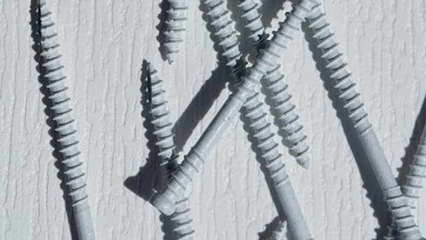 "GRK RT WHITE Composite Trim Screws #8 x 2-3/4"" (100 pcs) (17632)"