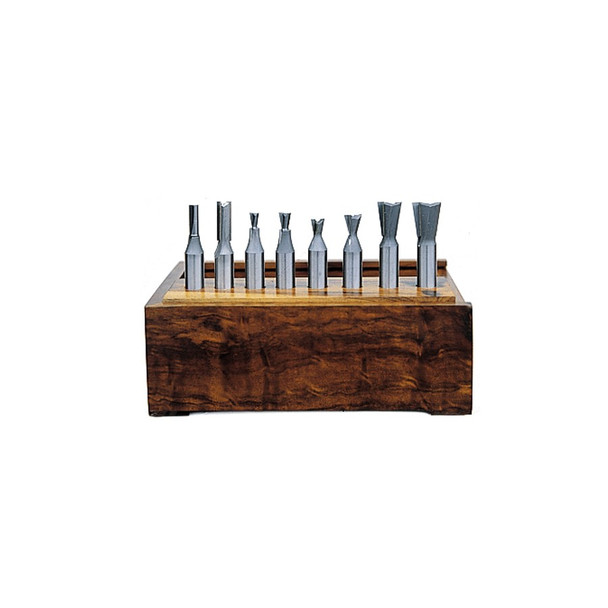 Amana Router Bits 8-Piece Carbide Tipped Dovetail for Incra Jig & Jointech 1/4 Inch Shank Set (AMS-408)
