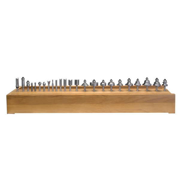 Amana Router Bits 24-Piece Carbide Tipped Set 1/4 Inch Shank (AMS-124)