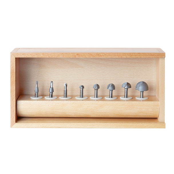 Amana 8-Pc Carbide Tipped Core Box Router Bit Collection, 1/4 Inch Shank (AMS-420)