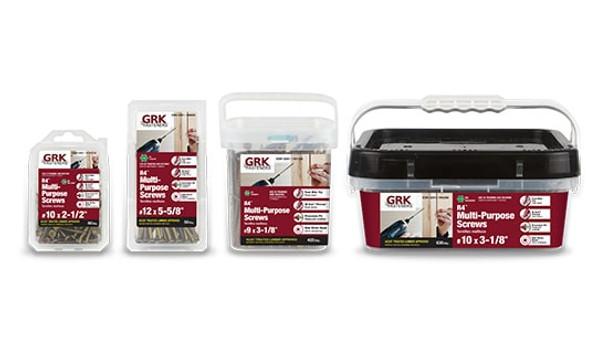 """GRK R4 Pro-Pak #8 x 2-1/2"""" (650 pcs) (01079)"""