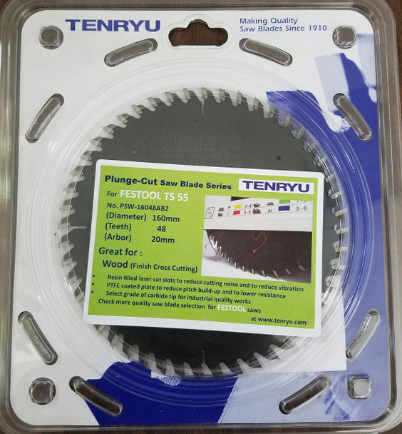 Tenryu PSW-16048AB2 Wood Fine Cross Cut (Fits Festool TS 55 Festool #495377)