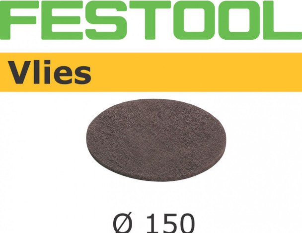 Festool Vlies | 150 Round | 800 Grit | Pack of 5 (482780)