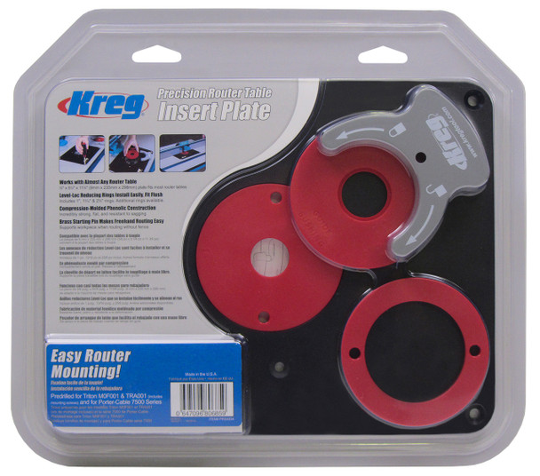 Kreg Phenolic Router Table Insert Plate - Pre-drilled Triton (PRS4034)