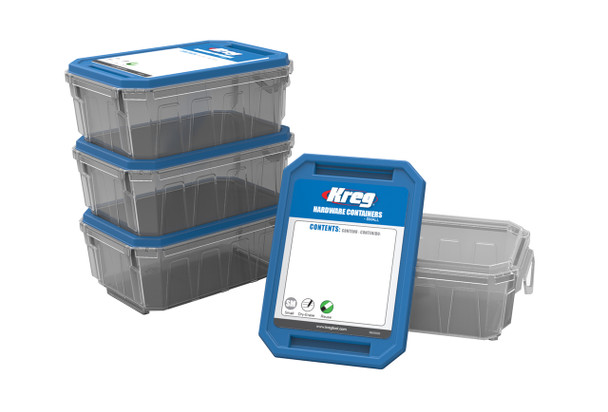Kreg Small Hardware Containers - Set of 4 (KSS-S)