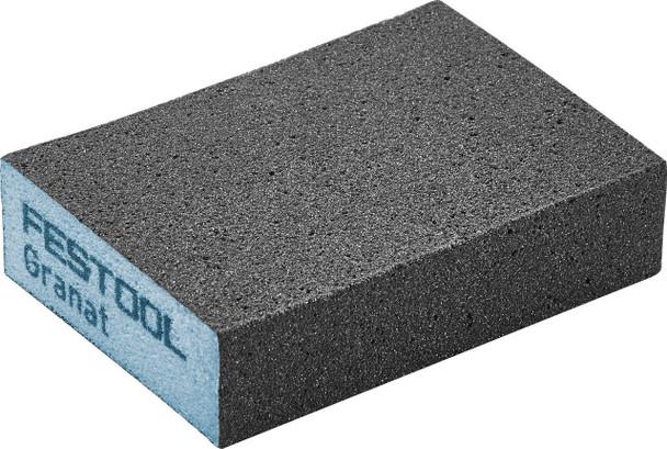 "Festool Granat   Abrasive Block 2-23/32"" x 3-27/32"" x 1""   220 Grit x 6 pieces (201083)"
