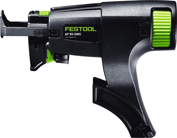 Festool Cordless Drywall Gun DWC 18 (BASIC) - close up side view