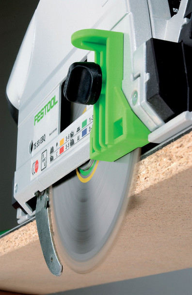 Festool TS 75 EQ Plunge Cut Circular Saw IMPERIAL - close up of blade