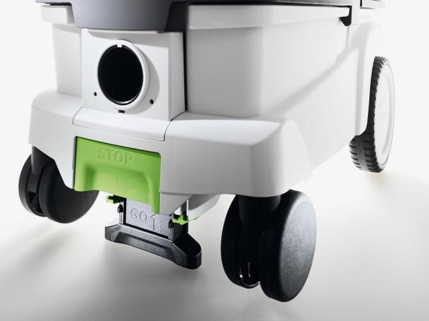 Festool Dust Extractor CT 26 E HEPA - close up of wheels