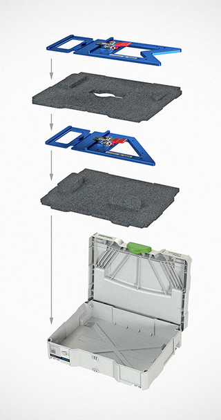 TSO Dual FoamPac Systainer Insert for GRS-16 Family - contents