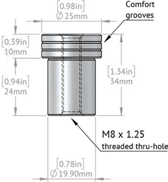 TSO DoubleGroove™ 20mm Bench Dogs - Medium Pair - breakdown