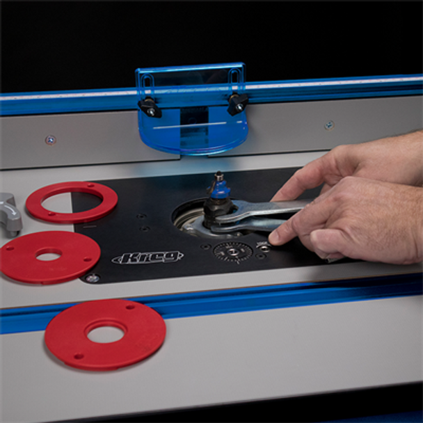 Kreg Precision Router Lift - wrench example