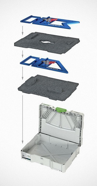 TSO GRS-16 Guide Rail Square w/ Systainer and Foam Insert