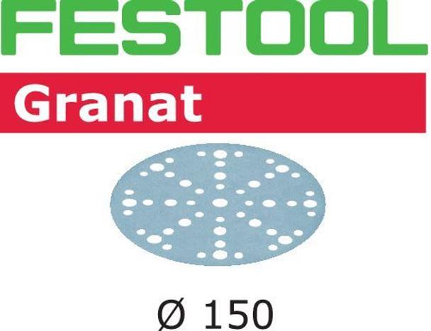 Festool Granat   150 Round   150 Grit   Pack of 100   Multi-Jetstream 2 (575165)