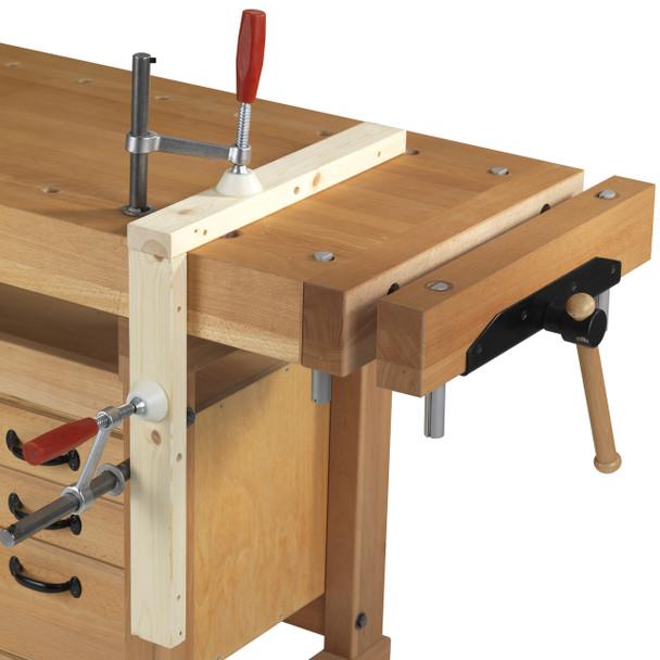 Sjobergs Elite Holdfast - workbench example
