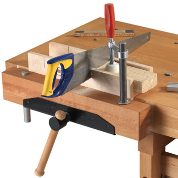 Sjobergs Elite Holdfast - workbench example with saw