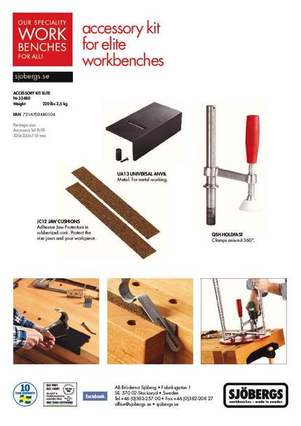 Sjobergs Elite Accessory Kit - product sheet