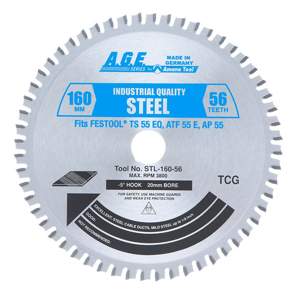 Amana Steel Cutting Blade for TS 55 & ATF 55 (STL160-56)