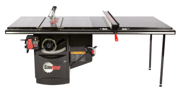 """Industrial Cabinet Saw 5HP, 1ph, 230v, w/ 52"""" Industrial T-Glide fence system"""