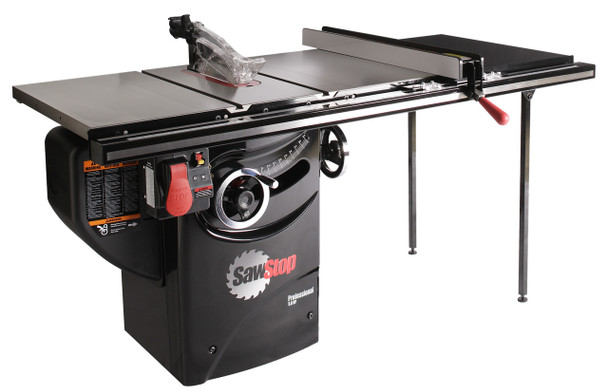 """Professional Cabinet Saw 3HP, 1ph, 230v, w/ 36"""" Professional T-Glide fence system"""