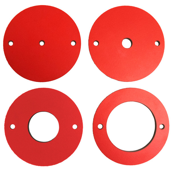 4 pc Phenolic Insert Ring Set for Router Plates