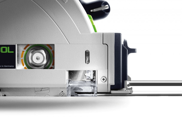 Festool TS 55 REQ-F-Plus Plunge Cut Saw w/o Guide Rail - close up side view