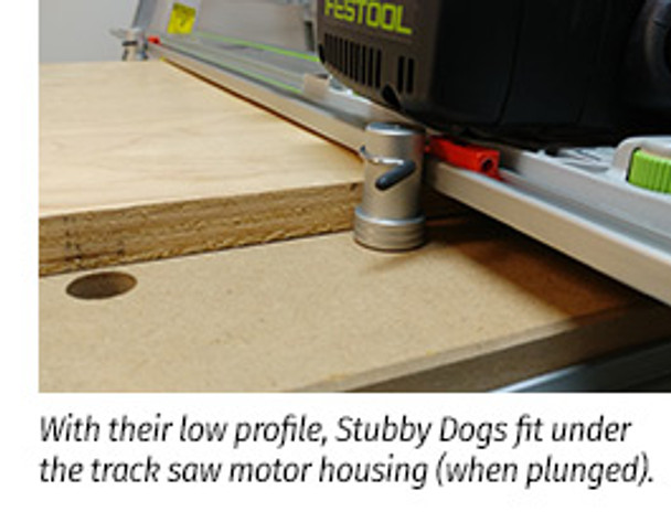 TSO DoubleGroove™ 20mm Bench Dogs - Stubby Pair - example
