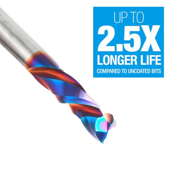"Amana Spektra 1/4"" Solid Carbide Compression Spiral Bit (46170-K)"