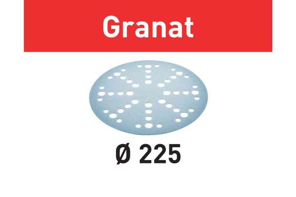 Festool Abrasive Sheet Granat STF D225/48 P60 GR/25 Pack (205654)