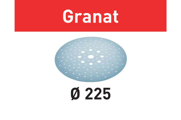 Festool Abrasive Sheet Granat STF D225/128 P320 GR/25 Pack (205664)
