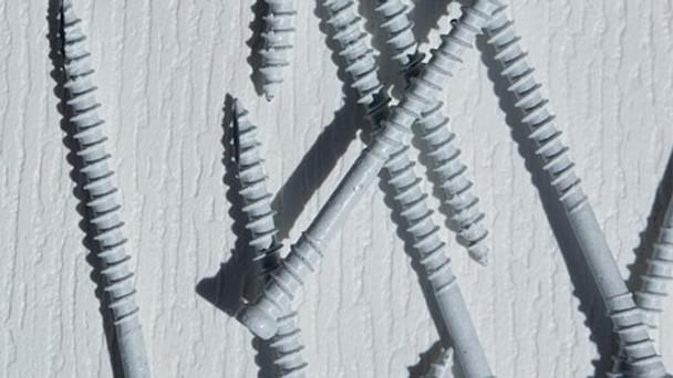 "GRK RT WHITE Composite Trim Screws #8 x 2-1/2"" (100 pcs) (96075)"