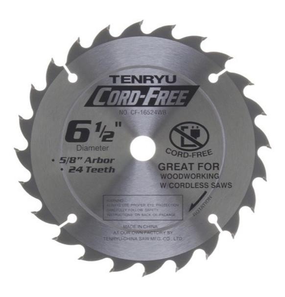 """Tenryu Blade - 6-1/2""""  24 Tooth 5/8"""" Arbor 3900 RPM (CF-16524WB)"""