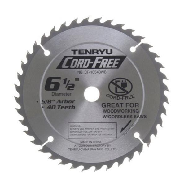 """Tenryu Blade - 6-1/2"""" 40 Tooth 5/8"""" Arbor 3900 RPM (CF-16540WB)"""