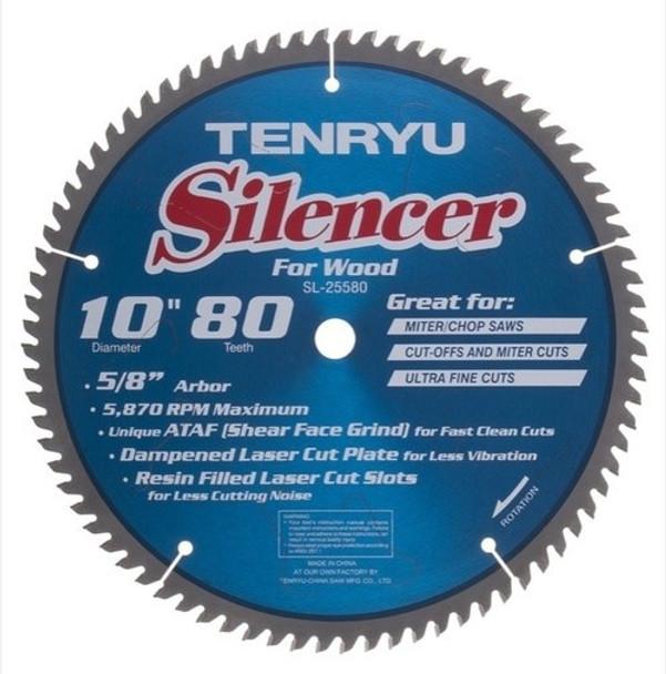 "Tenryu Blade - 10"" 80 Tooth 5/8"" Arbor 5870 RPM (SL-25580)"