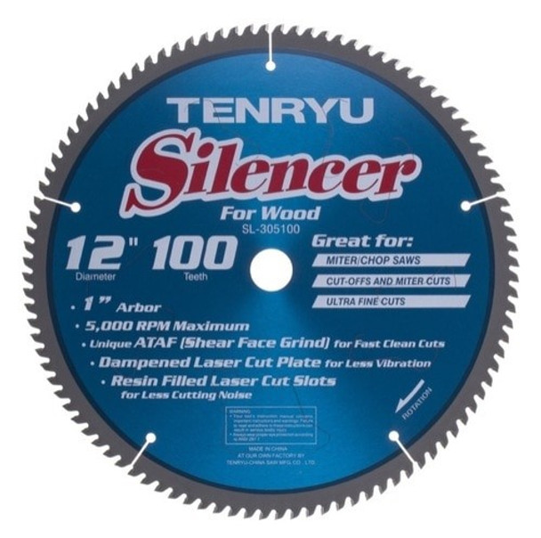 "Tenryu Blade - 12"" 100 Tooth 1"" Arbor 5000 RPM (SL-305100)"