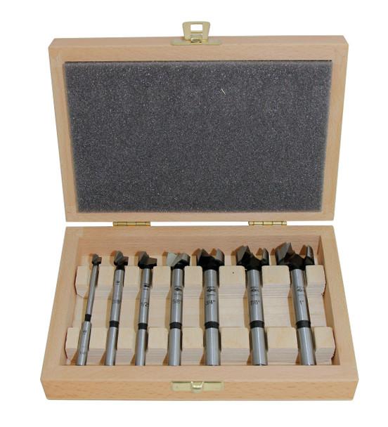 7 pc Wood Box Imperial Forstner Bit Set